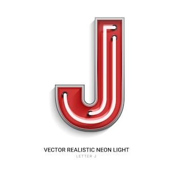 Lettera al neon j
