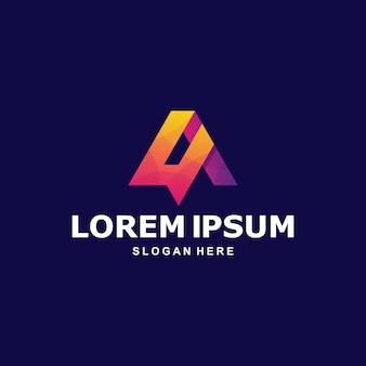 Lettera astratta colorata a logo premium