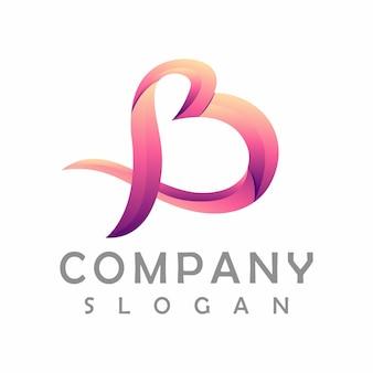 Lettera b design del logo