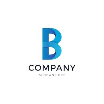 Lettera b logo design vettoriale