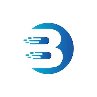Lettera b logo vettoriale