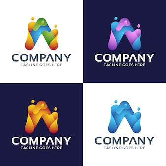 Lettera colorata a logo design