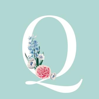 Lettera con ornamento floreale