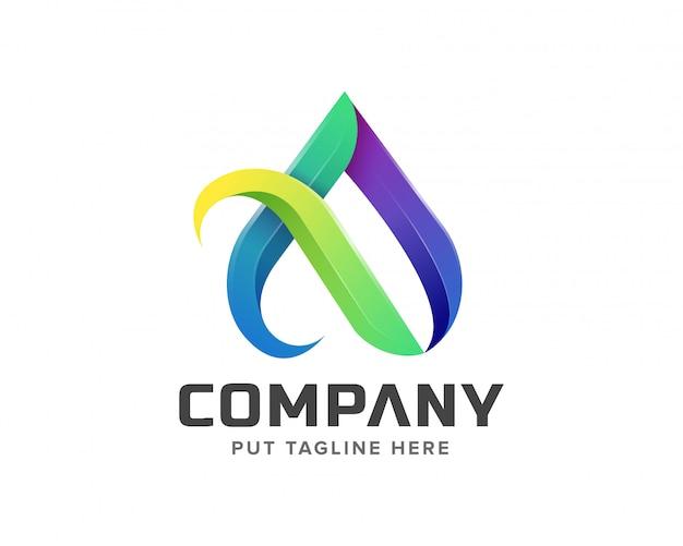 Lettera creativa un logo iniziale
