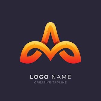 Lettera creativa un logo vettoriale