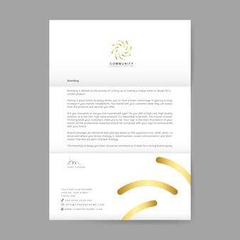 Lettera di affari con il logo