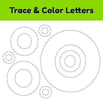 Lettera di traccia per bambini dell'asilo e della scuola materna. scrivi e colora.