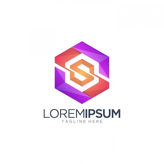Lettera esagonale modello logo
