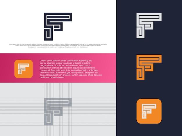 Lettera f logo design