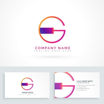 Lettera g logo modello di progettazione