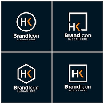 Lettera hk logo design