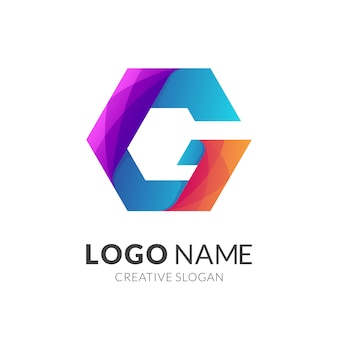 Lettera iniziale g logo aziendale