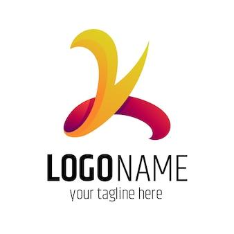 Lettera iniziale k business logo design