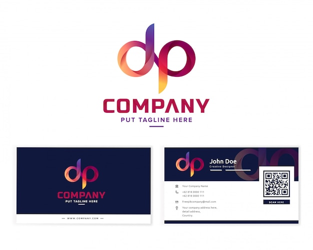 Lettera iniziale logo d e p.