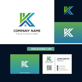 Lettera k con logo della casa