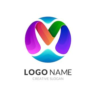 Lettera m logo design