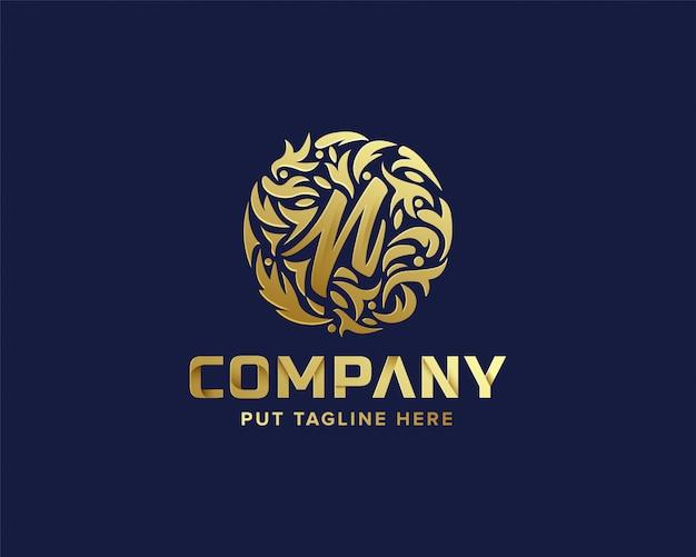 Lettera n iniziale con logo premium per azienda