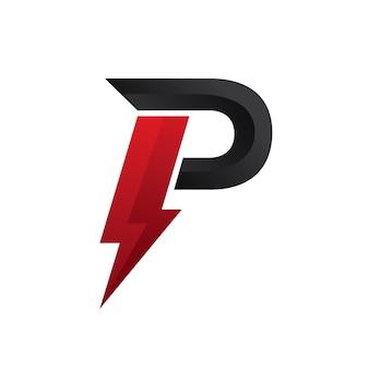 Lettera p logo power