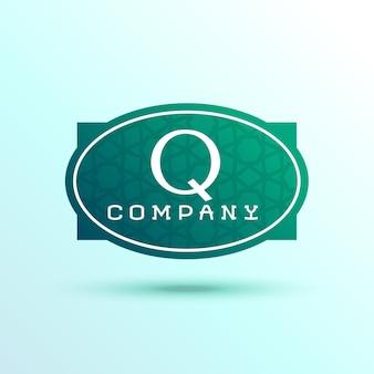 Lettera q label design per il tuo marchio