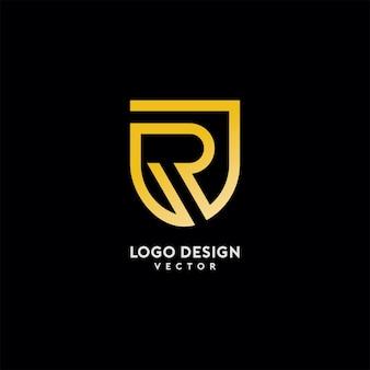 Lettera r logo design