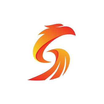 Lettera s eagle logo vector