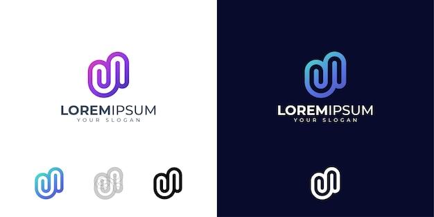 Lettera u logo design ispirazione