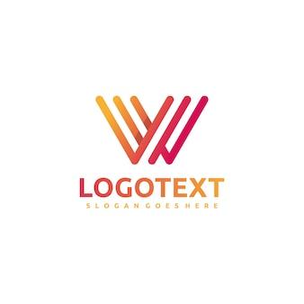 Lettera w - logo astratto