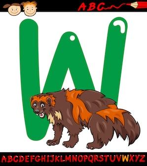 Lettera w per l'illustrazione del fumetto di wolverine