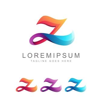 Lettera z colorato logo design