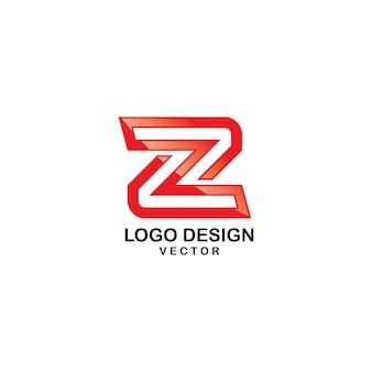 Lettera z tipografia logo design