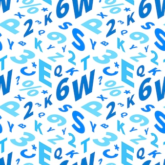 Lettere blu in prospettiva isometrica