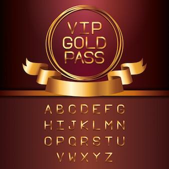 Lettere d'oro vip lettere