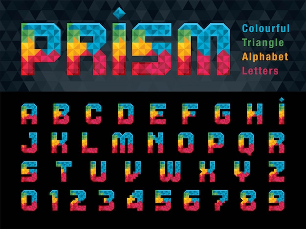 Lettere dell'alfabeto geometriche
