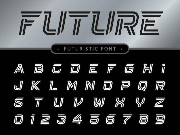 Lettere dell'alfabeto impostato per la tecnologia