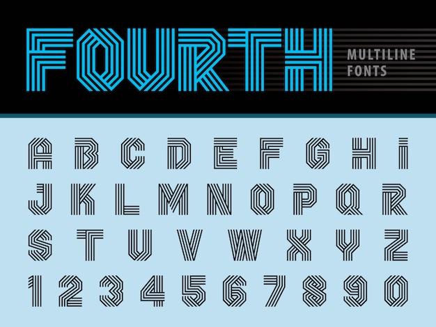 Lettere di alfabeto moderno