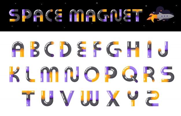 Lettere di carattere creativo alfabeto impostato