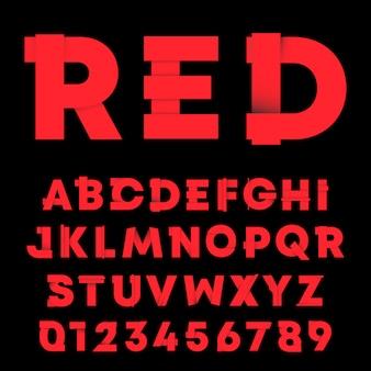 Lettere e numeri con ombra sfumata.