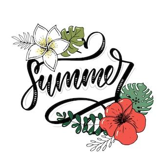 Lettere fatte di fiori e foglie saldi estivi