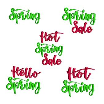 Lettering 3d set vendita di primavera calda