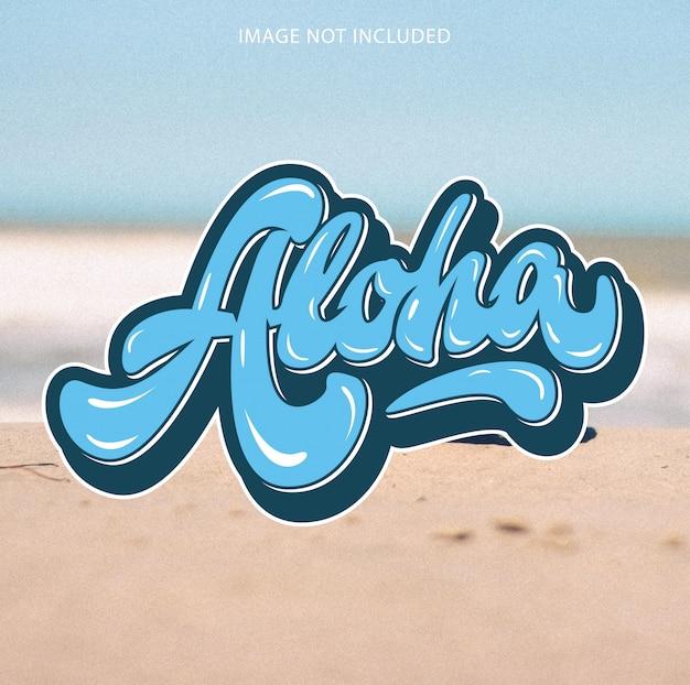 Lettering aloha hawaii