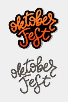 Lettering arancione e grigio dell'oktoberfest