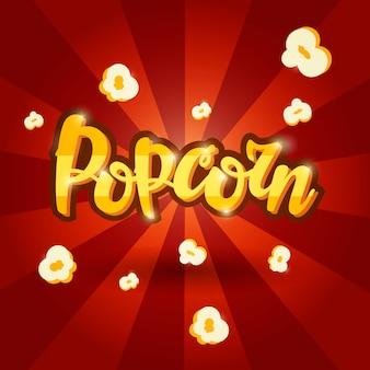 Lettering banner design popcorn