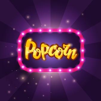 Lettering banner popcorn