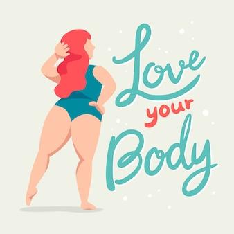 Lettering body positive