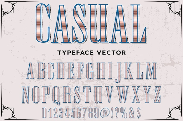 Lettering carattere tipografico design casual