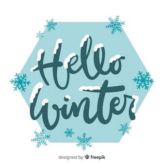 Lettering ciao inverno