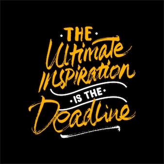 Lettering citazione di motivazione