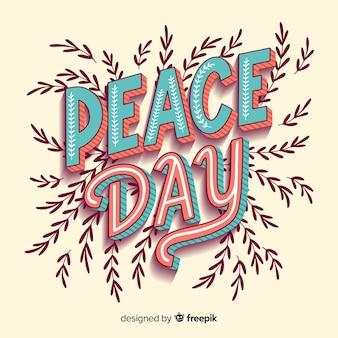 Lettering colorato giorno di pace