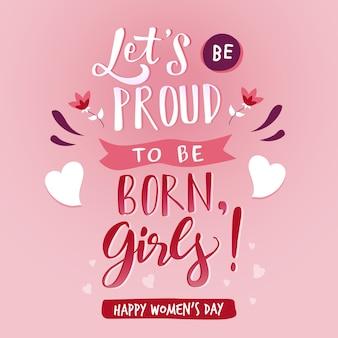 Lettering concetto del giorno delle donne