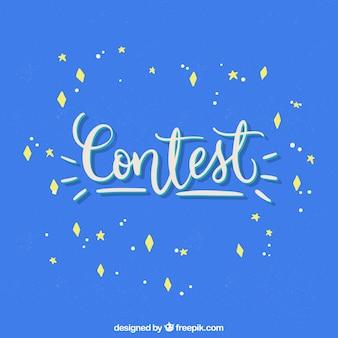 Lettering concorso moderno con design piatto